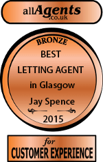 Best letting agent award - bronze medal