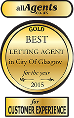 Best letting agent award - gold medal